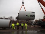 Finale Errichtung von drei Windkraftanlagen im WP Trimet