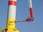 Einzige Befahranlage für Windräder auf hoher See