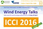 ICCI 2016: Wind Energy Talks