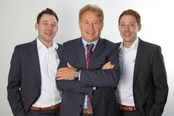 Left to right: Klaus Lammers, Bruno Lammers, Simon Lammers