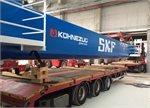 Schwerstarbeit bei SKF in Schweinfurt: Kräne hieven Kräne ins Prüfzentrum