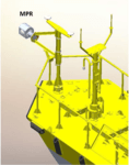 World's first floating microwave radiometer complements measurements of the first floating LiDAR