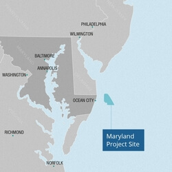 Lage des Maryland-Projekt (Bild: US WInd)