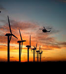 Fire-Free: First Wind Farm in Germany Dark at Night