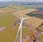 Siemens low wind prototype turbine installed in Drantum