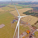Siemens low wind prototype turbine installed in Drantum