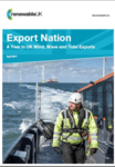 Report reveals massive range of UK wind, wave and tidal energy industries' exports