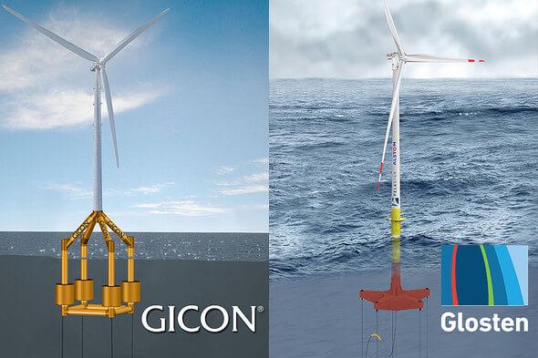 Die beiden Ingenieurdienstleister GICON® (Deutschland) und Glosten (USA) bündeln zukünftig ihre Expertisen für die Weiterentwicklung der TLP-Technologie (Bild: GICON/Glosten)