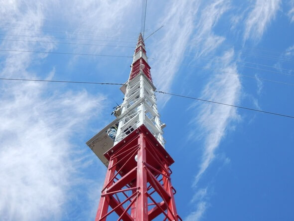 RK Systems' 150m Lattice Met Tower (Image: NRG Systems / RK Systems)