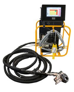 Das neue RTA-Hydraulikschraubsystem mit Touch-Controller und direkt messendem Werkzeug eignet sich für Drehmomente bis zu 11000 Nm. (Bild: Atlas Copco Tools)