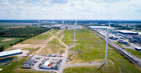 North Findlay Wind Campus, Ohio, USA (Photo courtesy of One Energy Enterprises LLC)