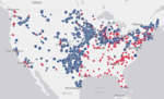 AWEA releases map of every wind farm and factory in America