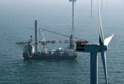 Turbineninstallation Offshore-Windpark Nordsee One (Bild: Nordsee One GmbH)