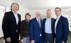 Bundespräsident Steinmeier zu Besuch bei GP JOULE (Bild: GP JOULE)