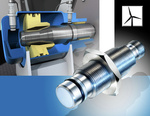 High pressure-resistant inductive sensors monitor the locking cylinders in wind power plants