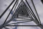Tilt-up steel lattice mast