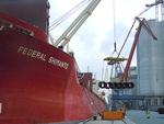 """""""Federal Shimanto"""" lädt Stahlprodukte und Projektladung in Brake"""