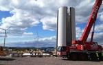 juwi: Im Windpark Offenbach an der Queich wachsen die Türme in die Höhe