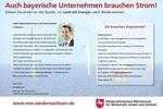 Auch Bayern braucht Strom!