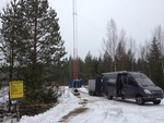 Windhunter: Windmessmast in Finnland, Eis und Schnee