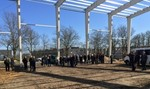 Denmark: Topping-out ceremony in Brande