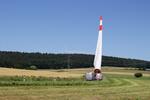 Ein Rotorblatt kommt selten allein: Selbstfahrer-Einsatz im Windpark Hofbieber