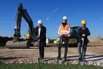 Symbolischer Spatenstich: Bauarbeiten für 30-Megawatt-Windpark in Luko gestartet