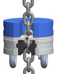 Bestmögliche Ergänzung für den Materialtransport am Gondelkettenzug: Die Ketteneinhängevorrichtung (KEV)