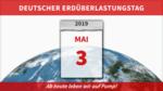Deutscher Erdüberlastungstag am 3. Mai: Keine Trendwende im Verbrauch natürlicher Ressourcen hierzulande in Sicht