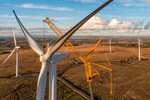 Coal miners visit Europe's largest onshore wind farm in Romania