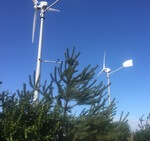 ANTARIS Windanlagen trotzen heftigem Wind und schlechtem Wetter