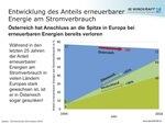 Erneuerbarer Anteil in Österreich in den letzten 25 Jahren gefallen