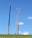 The Antaris 12 kW wind turbine on 30m!