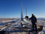 ¡La Antaris instalada, en algún lugar del este de Rusia!