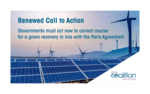 Leading Renewable Players Urge Governments to Re-align Recovery Measures with Paris Agreement