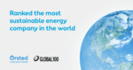 Three in a row: Ørsted again ranked world's most sustainable energy company