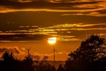 How does climate change impact wind farm yields?