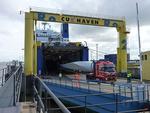 Cuxport bietet Windkraftindustrie mit Shortsea-Verkehren eine Alternative zum Straßentransport