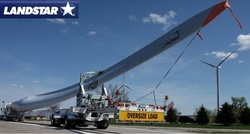 Lanstar - Photo of the transport of a turbine blade