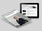 """Siemens Energy Kundenmagazin """"Living Energy"""" jetzt auch als Applikation für das iPad erhältlich"""