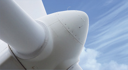 Additional 3D ultrasonic anemometer in open airspace at the spinner in front of the rotor blades