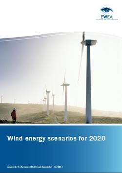 Wind energy scenarios for 2020