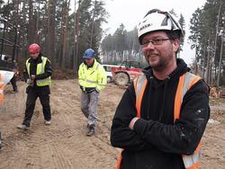 RTS -Baustellenleiter Heino Sneider in Wolfhagen