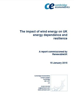 The impact of wind energy on UK energy dependence and resilience