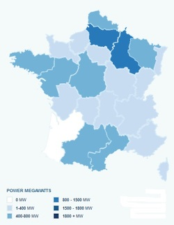 Wind Farm Density in France