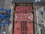 Docklegung für Offshore-Konverterplattform DolWin gamma bei Nordic Yards