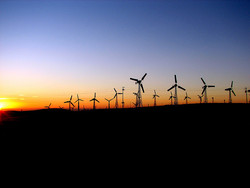 Altamont Pass' old wind turbines, via Flickr user Rick Harris with a Creative Commons license.