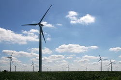 The onshore wind farm, Buffalo Gap 2, Texas, United States of America