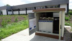 Die zweihunderttausendste ga-Schaltanlage von Ormazabal haben die TEN Thüringer Energienetze für eine Transformatorenstation der Firma Betonbau GmbH und Co. KG Schkeuditz in Teistungen erworben.  (Foto: TEN Thüringer Energienetze GmbH)
