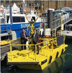 Terry Tarle, President & CEO of AXYS confirms deal with Ian Locker, MD of ZephIR LiDAR for the provision of dual ZephIR 300s on WindSentinel floating LiDAR buoy